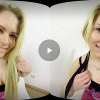 virtual blonde solo striptease