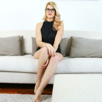 Beautiful blonde Izzy Delphine shows up at your door; she's your airbnb guest for the night in POV XXX. You give the very friendly European a quick tour.